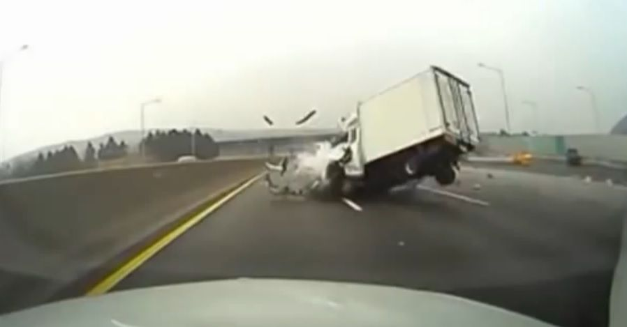 Dash cam footage of accident